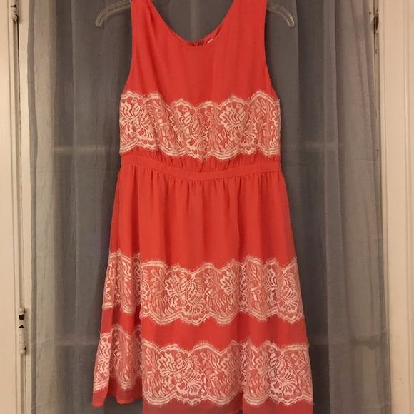 ModCloth Dresses & Skirts - Coral Modcloth Dress Size Large
